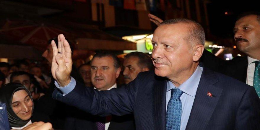 Erdoğan, Güneysu'da