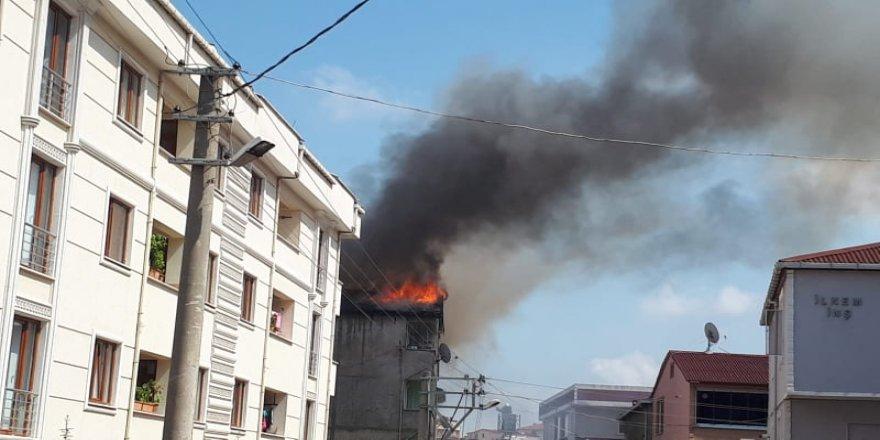 Gebze'de korkutan yangını!