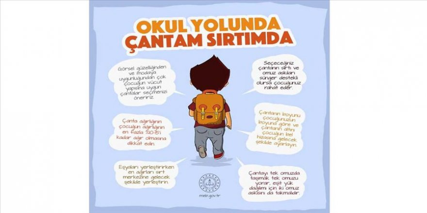 Bakan Selçuk'tan 'okul çantası' paylaşımı