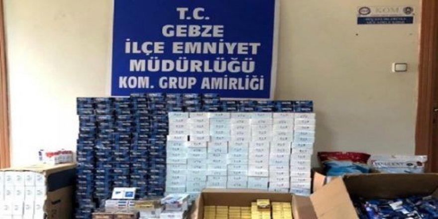 Kocaeli merkezli kaçak sigara operasyonu: