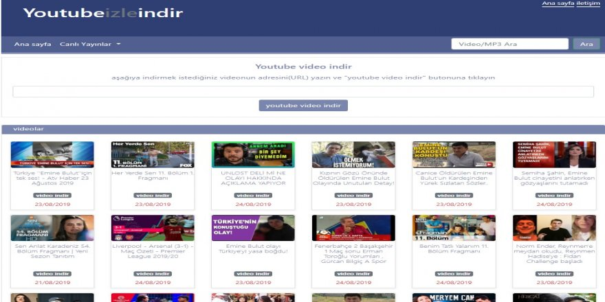 Ücretsiz Youtube Video indirme Aracı