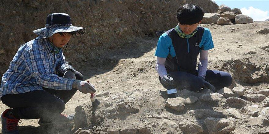 Koreli arkeoloji öğrencileri Çorum'da tecrübe kazanıyor