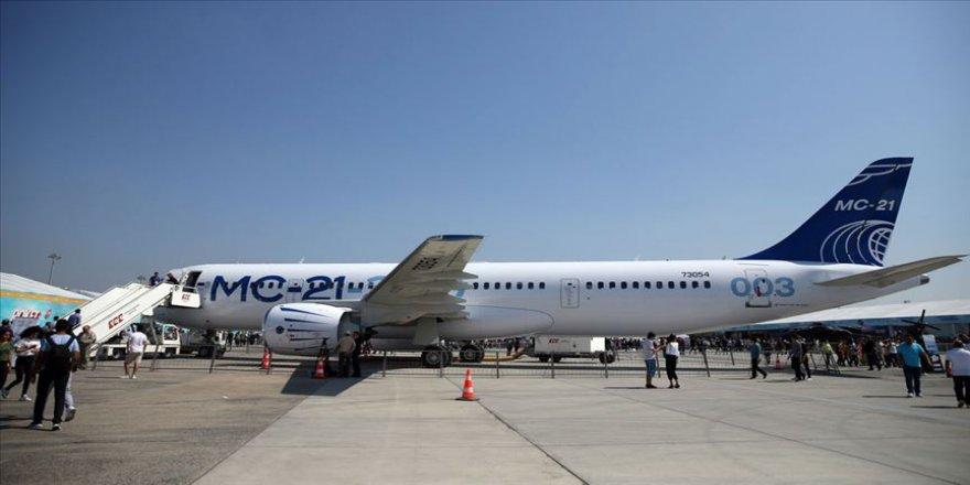 Uluslararası ilk uçuşunu yapan Rus uçağı TEKNOFEST'te