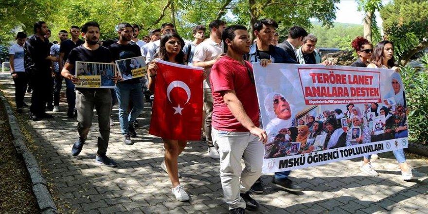 'Teröre lanet, analara destek' yürüyüşü