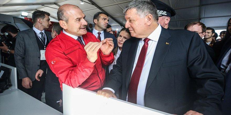 Bakan Soylu, Ukraynalı mevkidaşını TEKNOFEST'te ağırladı