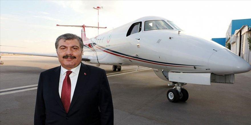 Bakan Koca: Türkiye vatandaşından ücret almadan hava ambulansı hizmeti yapabilen tek ülke