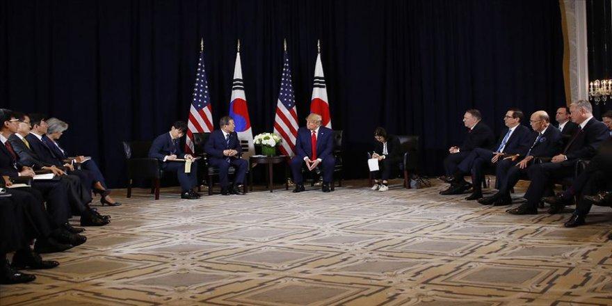 Trump Güney Kore Cumhurbaşkanı Moon ile görüştü