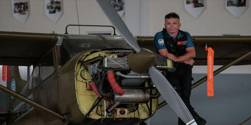 Polis memurunun uçak mühendisliği hayali gerçek oldu