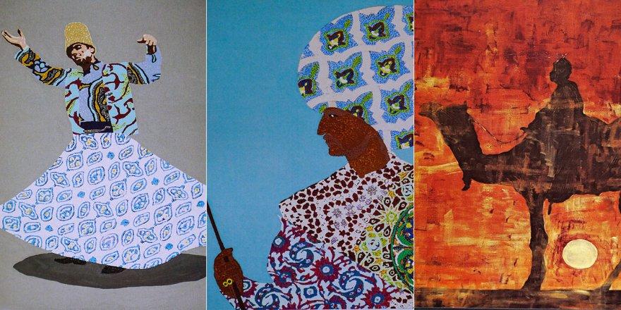 İtalyan ressam İslam motiflerini resmediyor