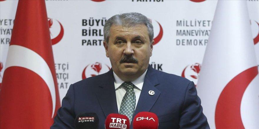 BBP Genel Başkanı Destici: Erdoğan'ın İsrail ile ilgili konuşması, tarihe bir nottur