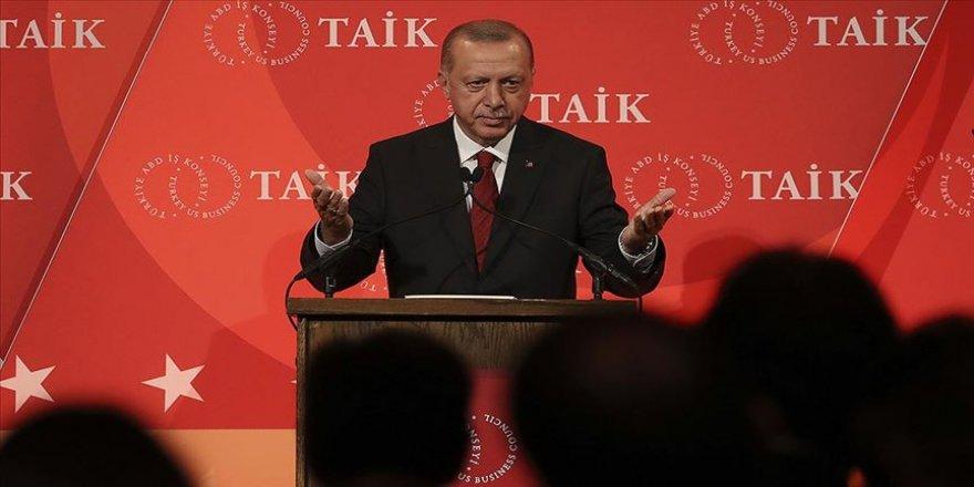 Cumhurbaşkanı Erdoğan ABD'de yatırımcılara hitap etti