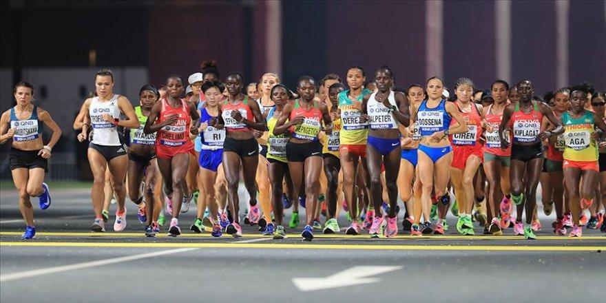 Dünya Atletizm Şampiyonası'nda kadınlar maraton finali koşuldu