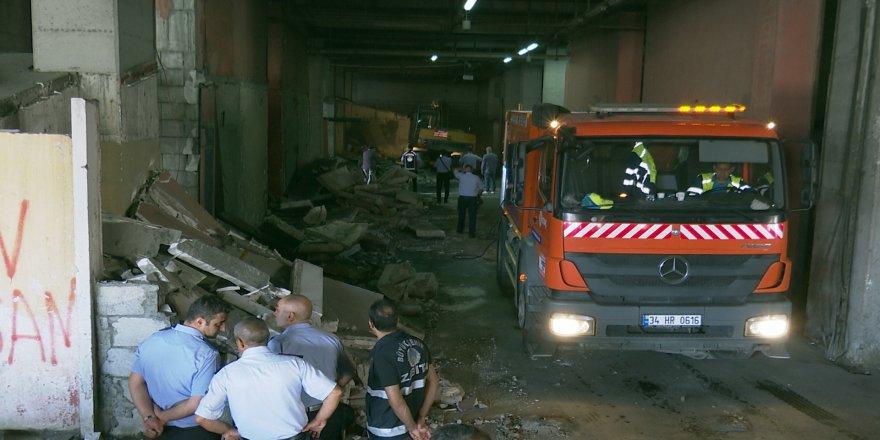 Otogarın alt katlarındaki metruk binalar yıkıldı
