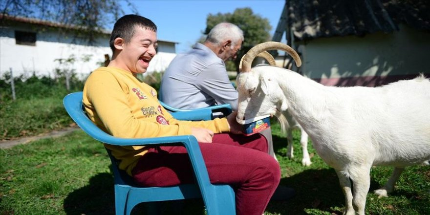 Down sendromlu Yasin'e keçilerle 'terapi'