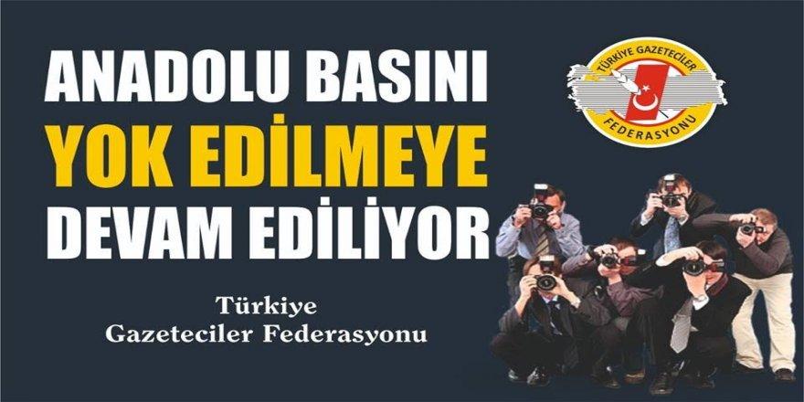TBMM'den Anadolu basınına RED..!