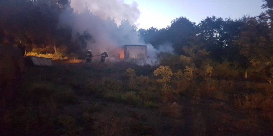 Gebze,Ovacık mahallesinde  yangın