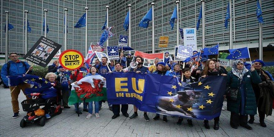 Brüksel'de Brexit karşıtı gösteri