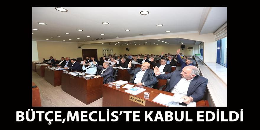 Bütçe mecliste kabul edildi