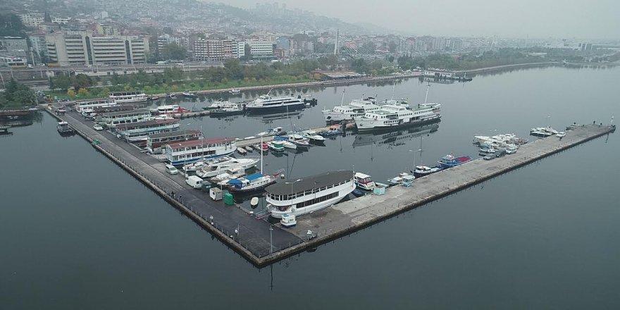 Marina'ya 400 ton asfalt serildi