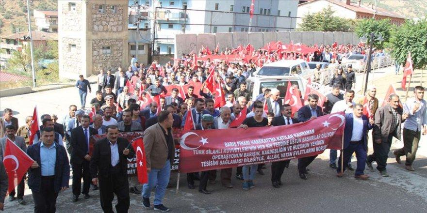 Şemdinli'de 'Barış Pınar Harekatı'na destek yürüyüşü