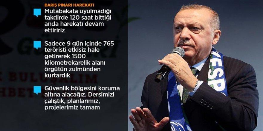 Cumhurbaşkanı Erdoğan: 9 günde 1500 kilometrekarelik alanı örgütün zulmünden kurtardık