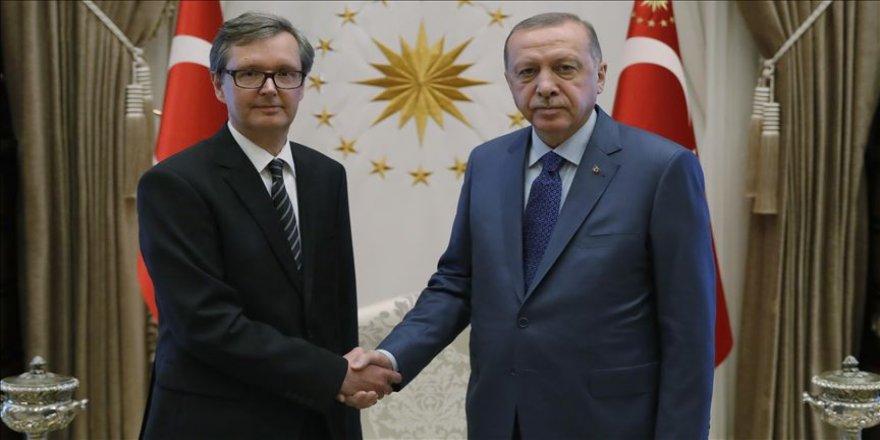 Cumhurbaşkanı Erdoğan Avusturya'nın Ankara Büyükelçisi Wimmer'I kabul etti