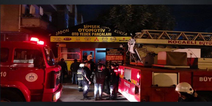 Gebze'de iş yerinde yangın çıktı !