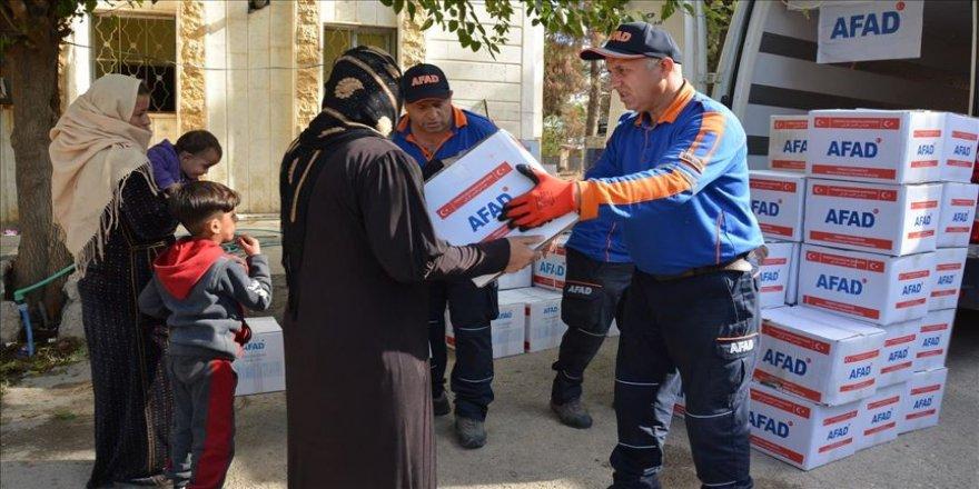 Barış Pınarı Harekatı bölgesinde yapılan yardımlar