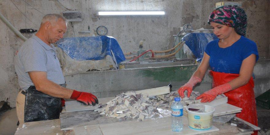 Kadın girişimci işlediği mermeri Avrupa ve Amerika'ya ihraç ediyor