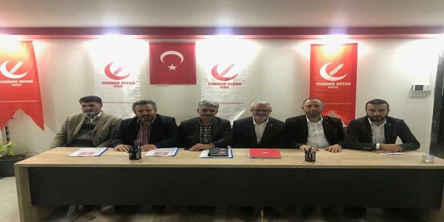 Yeniden Refah Partisi Gebze ilçesi Büyük Kongre Komisyonu toplandı