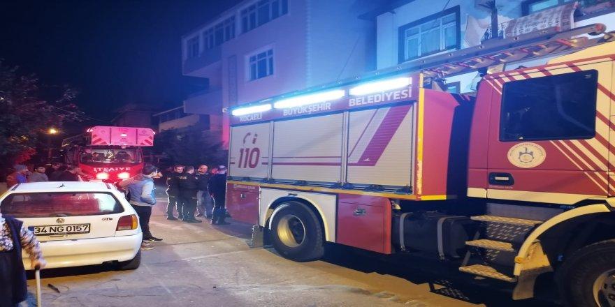 Gebze'de panik yaratan yangın