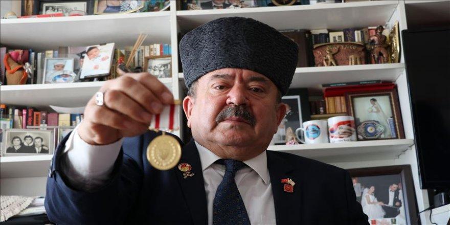 Gazinin yıllar sonra gelen madalya sevinci