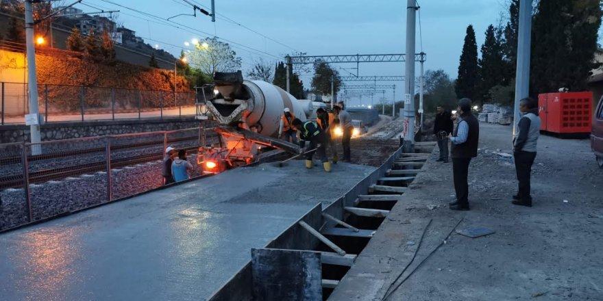 Diliskelesi ve Tavşancıl tren istasyonlarında peron çalışmaları başladı