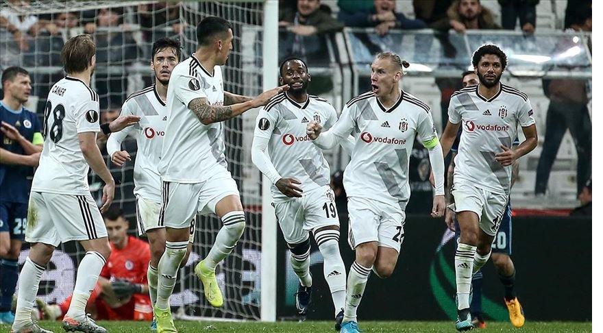Beşiktaş Avrupa Ligi'nde ilk galibiyetini aldı