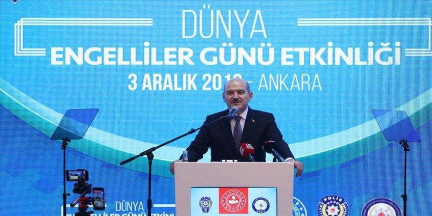 İçişleri Bakanı Süleyman Soylu: Kamuda engelli istihdamı ülke tarihinin en yüksek seviyesinde