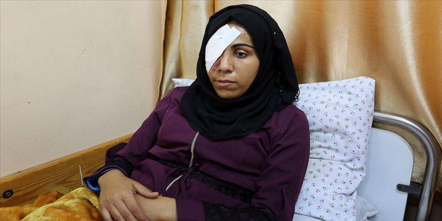 Filistinli genç kız Büyük Dönüş Yürüyüşü gösterilerinde gözünü kaybetti