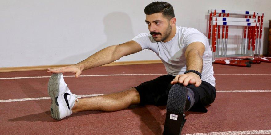 Bedensel engelli atlet Muhammed'in yeni hedefi paralimpik oyunlar