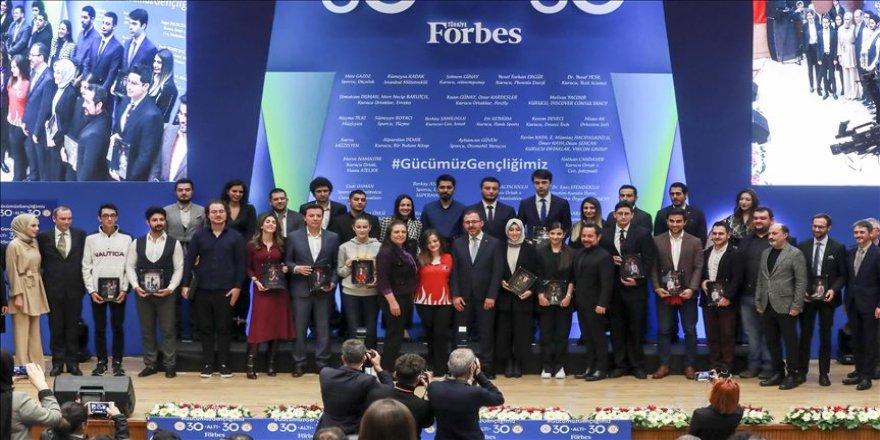 Bakan Kasapoğlu'ndan '30 Altı 30' programında yer alanlara ödül