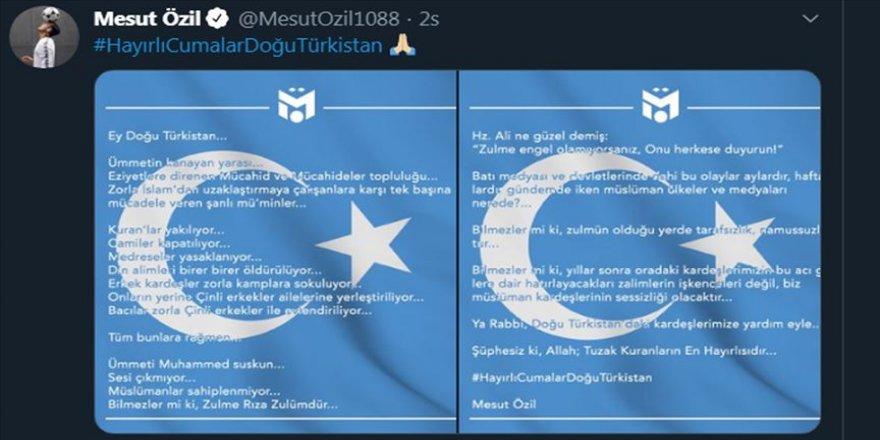 Mesut Özil'den Çin'in Doğu Türkistan'daki politikalarına sessiz kalan Müslümanlara tepki