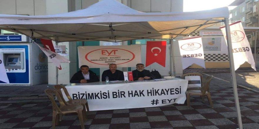 EYT'liler Gebze'de stant kurdu