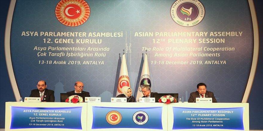 Asya Parlamenter Asamblesi 12. Genel Kurulu Antalya'da devam ediyor