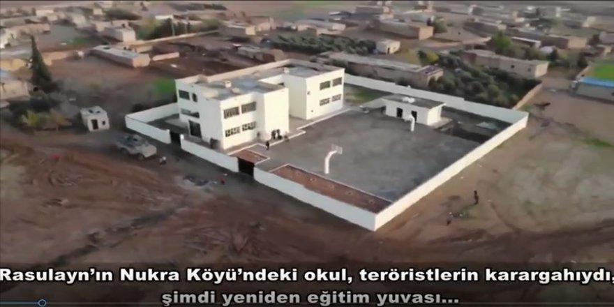 Suriye'de teröristlerin kullandığı okullar yeniden eğitime kazandırılıyor