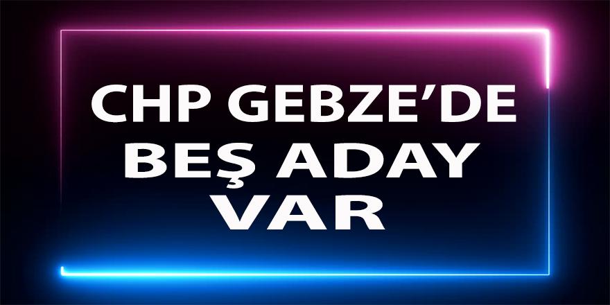 CHP Gebze beş aday ile kongreye gidecek