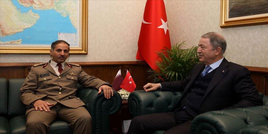Bakan Akar, Katar Kara Kuvvetleri Komutanı'nı kabul etti