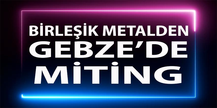 Birleşik Metal'den Gebze'de miting!