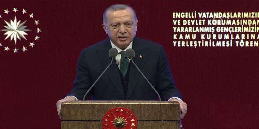 Cumhurbaşkanı Erdoğan: Ülkemizdeki engelli memur sayısı 56 bin 500 kişiye ulaştı