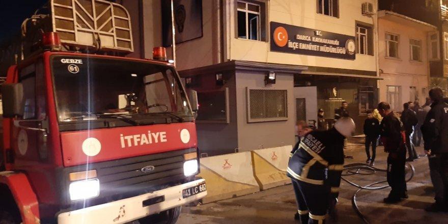 Darıca'da emniyet müdürlüğünde yangın