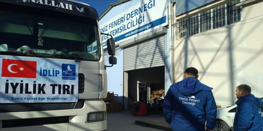 Deniz Feneri Derneği İdlib'e yardım tırı gönderdi