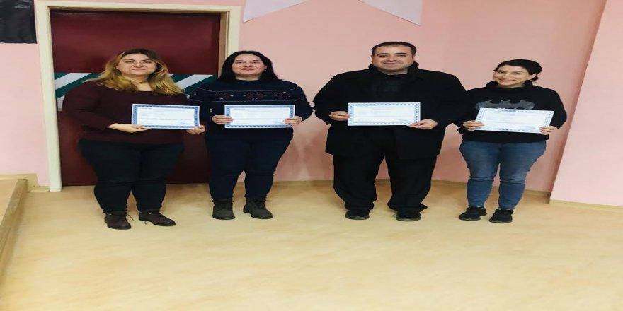 Gebze Sağlık Müdürlüğü personelleri sertifika almaya hak kazandılar