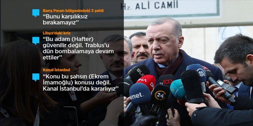 Cumhurbaşkanı Erdoğan: (İdlib) Rejimin ateşkesle alakalı attığımız adıma uymadığının çok açık bir ispatı